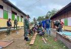 Wadanramil 1711-03/TMR Kapten Inf. Zabir Pimpin Perehapan Seminar Asrama Putri di Boven Digoel
